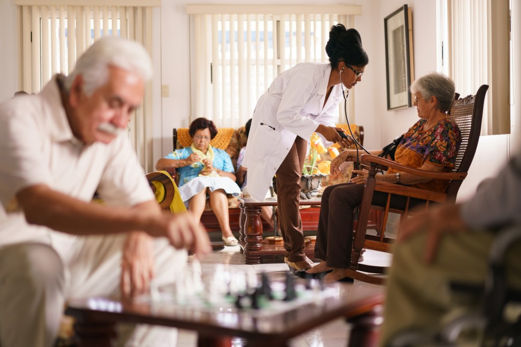 elderly in hospice care
