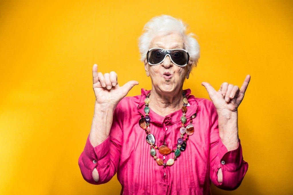a hippie grandma