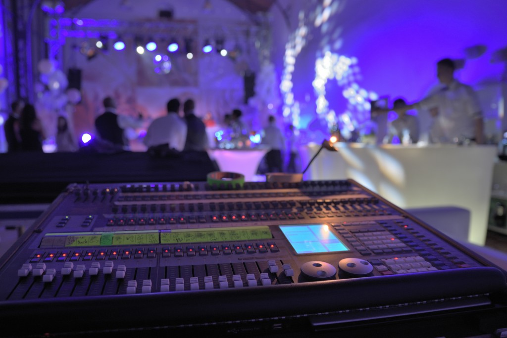 DJ mixer inside a fancy event