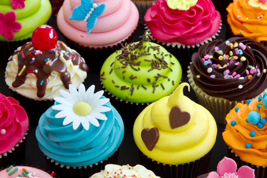 Cupcakes in different flavors