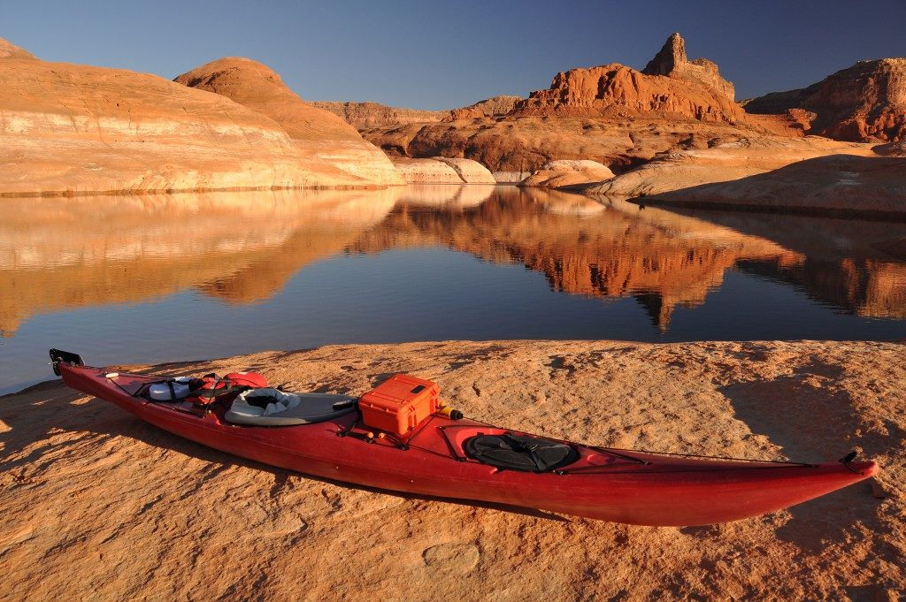 kayak at lake Powell