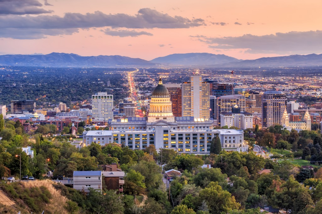 Salt Lake City Utah city skyline