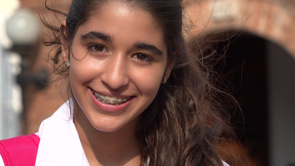 teen with braces