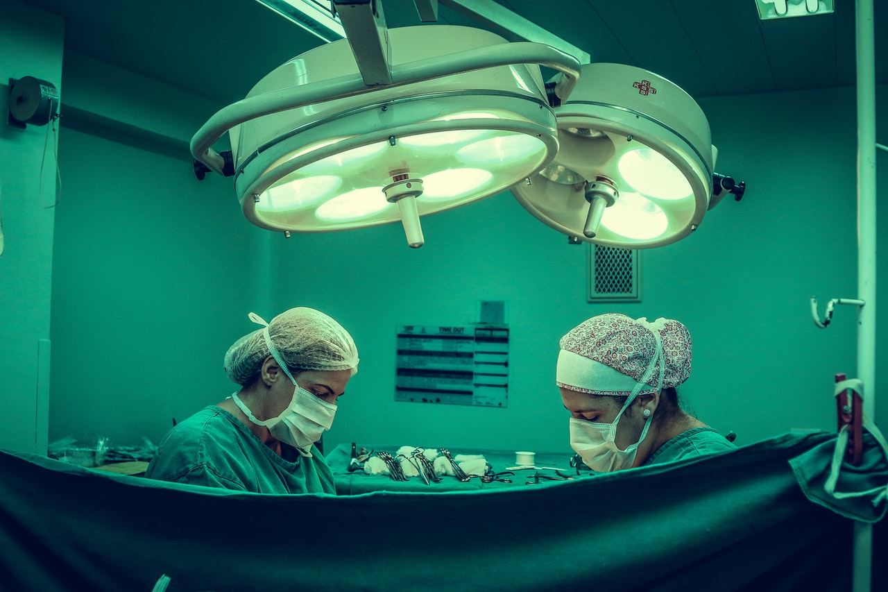 surgeon performing in the operating room