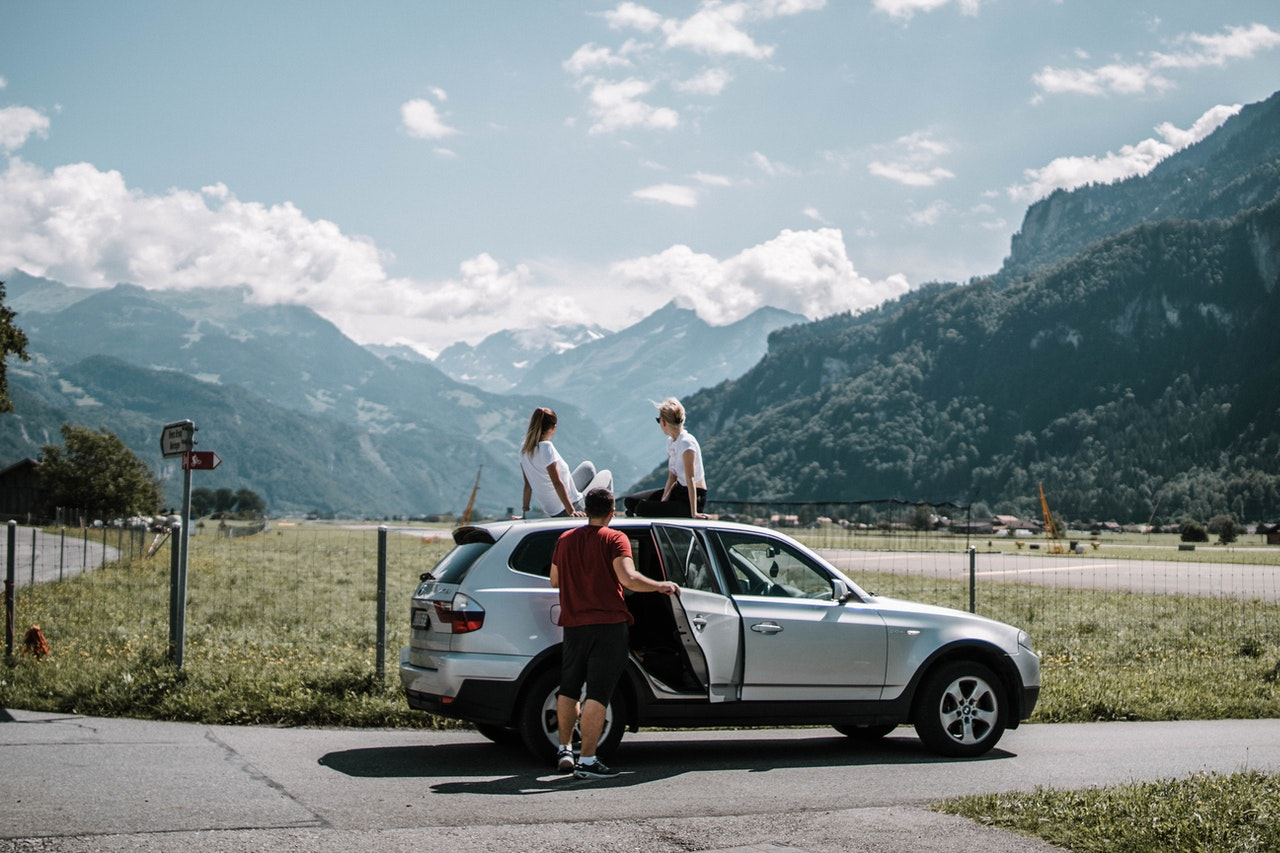 group of people on a roadtrip
