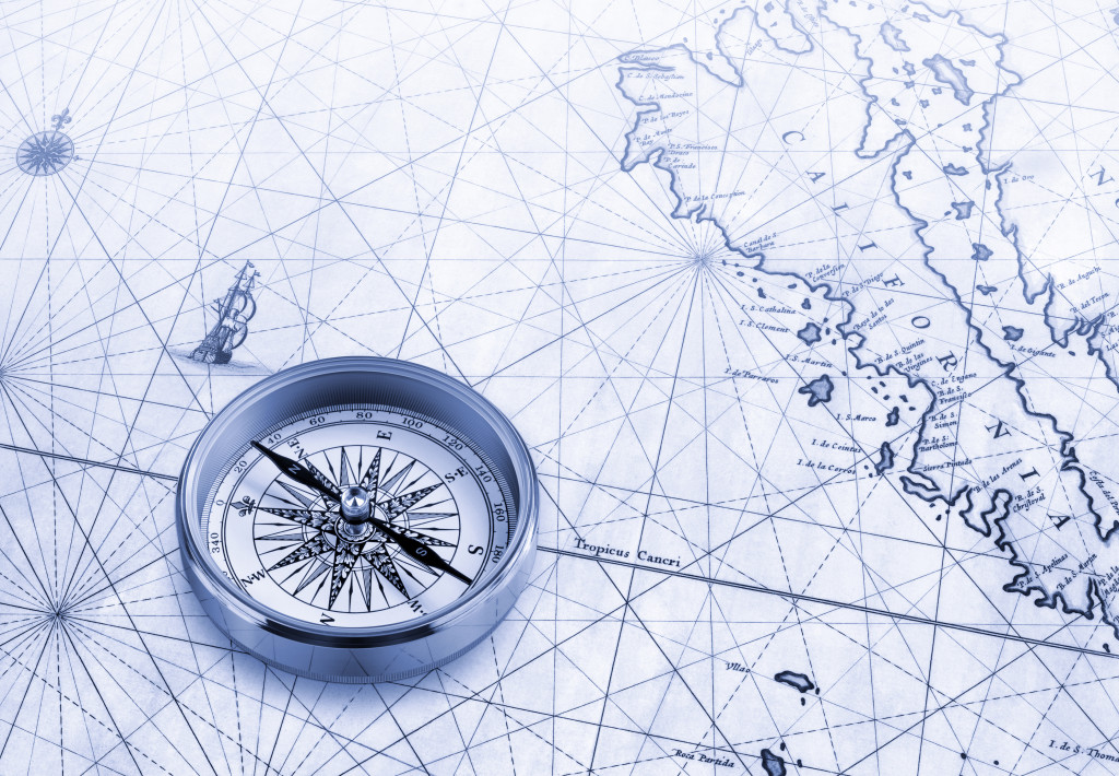 compass in map
