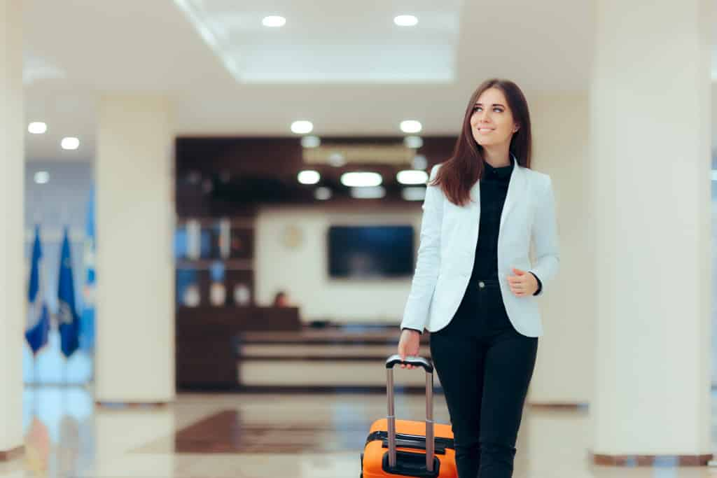 woman going to the airport